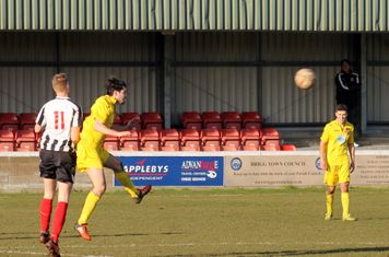 Conor Donoghue heading the ball.