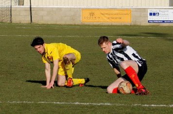 Jake Crossland in action for Brigg Town.