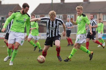 Nathan Watson in action for Brigg Town.