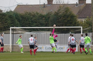 Paddy Shaw making a good save.