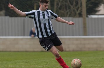 Ben Brown in action for Brigg Town.