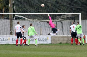 Paddy Shaw making a save.