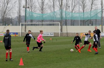 Junior players in action.