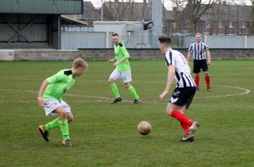 George Merrick on the ball.
