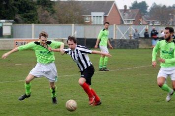 Phil Coates and Jonny Nicholls in action.