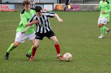 Joe Moloney in action for Brigg Town.