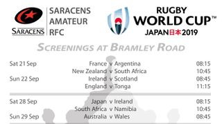 Your SARFC World Cup Clubhouse Schedule