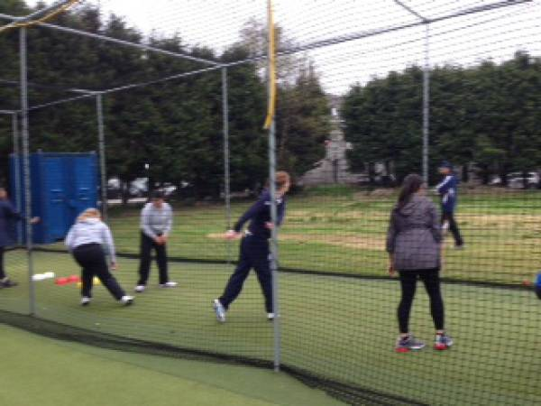Practising the bowling action