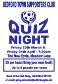 Friday's Supporters Club Quiz Is Cancelled