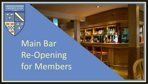 Main Bar Re-Opening