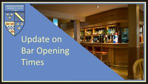 Update on Bar Opening Times