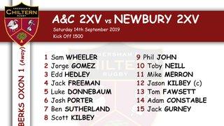 2xv Team Selection vs Newbury 2XV (A) Kick off 1500