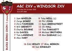 2xv Team Selection vs Windsor 2xv (H) Kick Off 1500