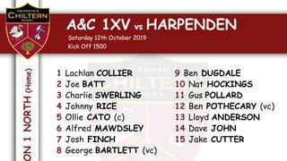 1xv Team Selection vs Harpenden (A) Kick Off 1500