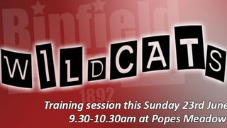 Wildcats Training Session - Sun 23rd June