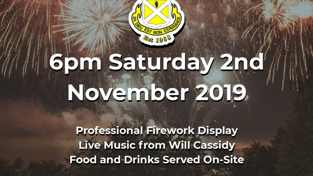 Fireworks Extravaganza only 4 weeks away