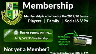 2019/20 Membership Now Due