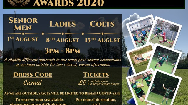 Withycombe RFC Awards 2020 - Senior Men