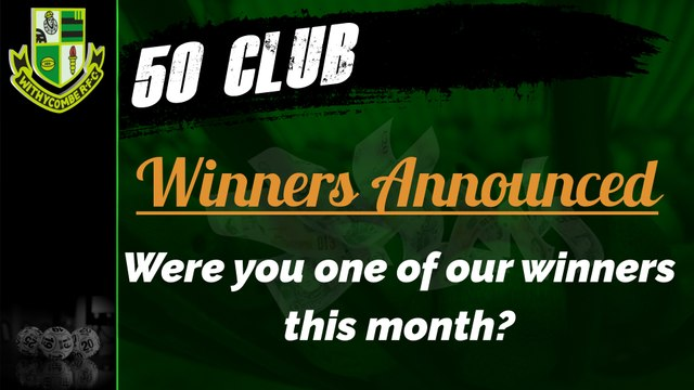 WRFC 50 Club - Winners Announced