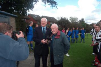 Bill receiving his FA Long Service Award