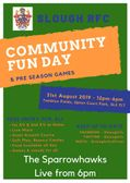 Slough RFC Community Day - Saturday 31st August