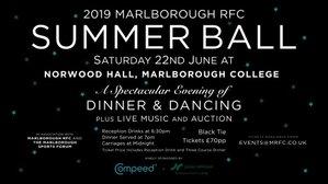 2019 Marlborough RFC Summer Ball