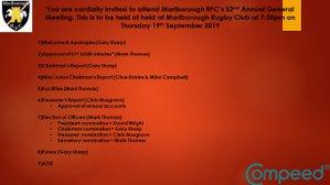 Marlborough RFC AGM 2019