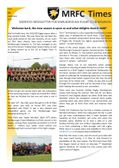 MRFC Times Newsletter