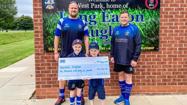 Over £10,000 raised for Long Eaton Rugby Club's Charity of the season – Heart Link