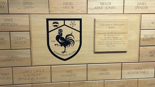 HRUFC wooden brick wall project - Thank you!