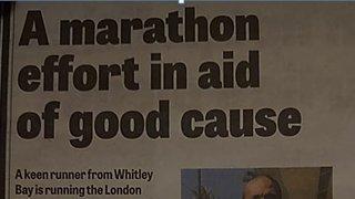 Matt Price in London Marathon