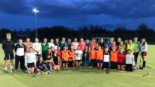 Fantastic turn out at Ladies' training