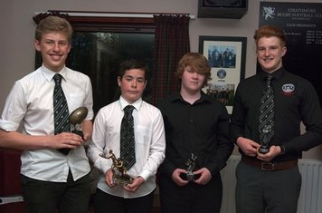 The winners l to r Fraser Whyte, Max Agnew, Bryce McLellan, Jack Wilson.