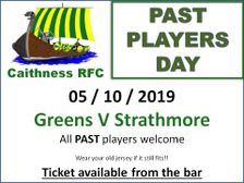 Past Players Hospitality Day. Saturday 5th October Millbank @ 14.30
