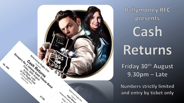 Ballymoney RFC presents CASH RETURNS