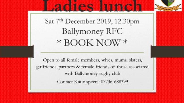 Ladies Lunch - Sat 7th December
