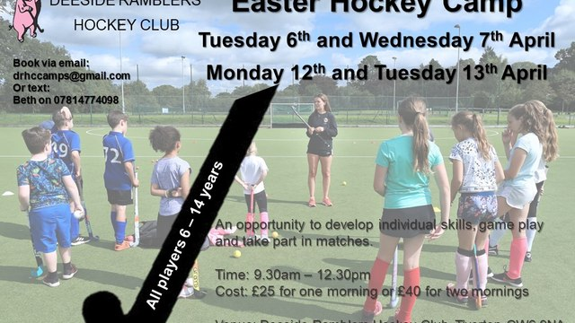 Easter Holiday Hockey Camps!