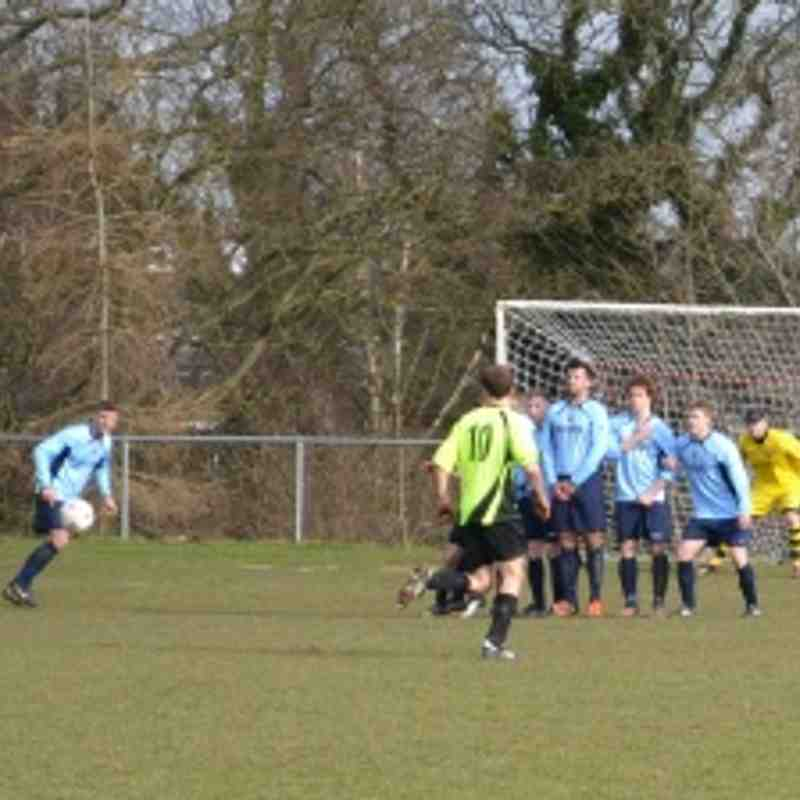 First Team v Overton 2/3/13