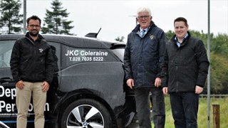 Club President, John Campbell, with  Club Sponsor, JKC, Coleraine