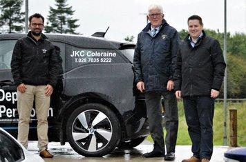 Club President, John Campbell, with Club Sponsor, JKC ,Coleraine.