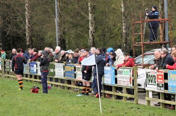 A happy crowd at the Kilraughts Road.