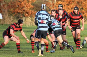 Martin heading for the try line.