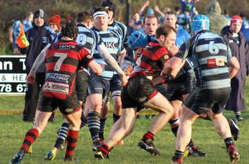 Both sets of forwards go head to head.
