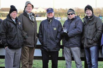 Joe, Fred, JP, Fuzzy and Robert enjoying the halftime break. All very fetching hats men!