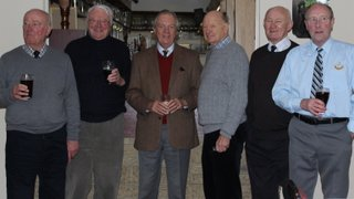 Longtime Club Supporters raising a glass with the President
