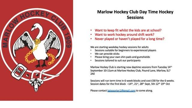 Marlow Hockey Club Day-Time Hockey Sessions