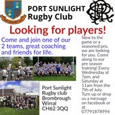 Port sunlight is looking ffor players