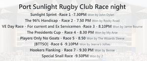 Race night club house fund raiser!