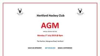 SAVE THE DATE - HERTFORD HOCKEY CLUB AGM
