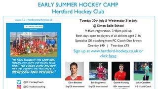 July Summer Hockey Camp